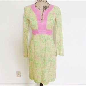 Lilly Pulitzer Dresses | Pink Green Embroidered